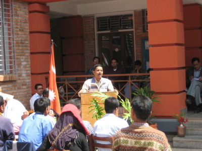 Deputy Director Baburam Poudel Speaks at the Opening Ceremony