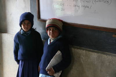 Two Class 2 Students