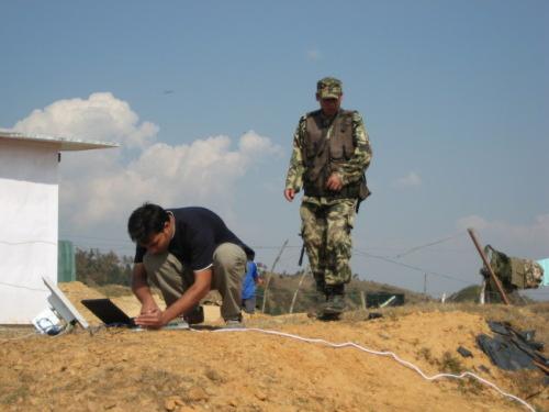 Seting Radio at the Army camp