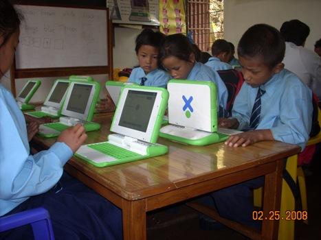 Bishwamitra grade 2 students working away
