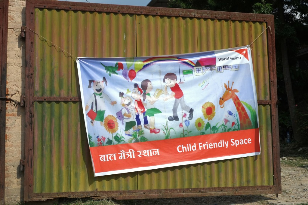 Child friendly Space run by World Vision