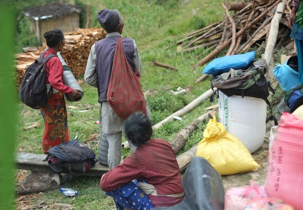 Since most of youth have gone abroad for employment, it was common sight that old folks had come to receive relief materials.