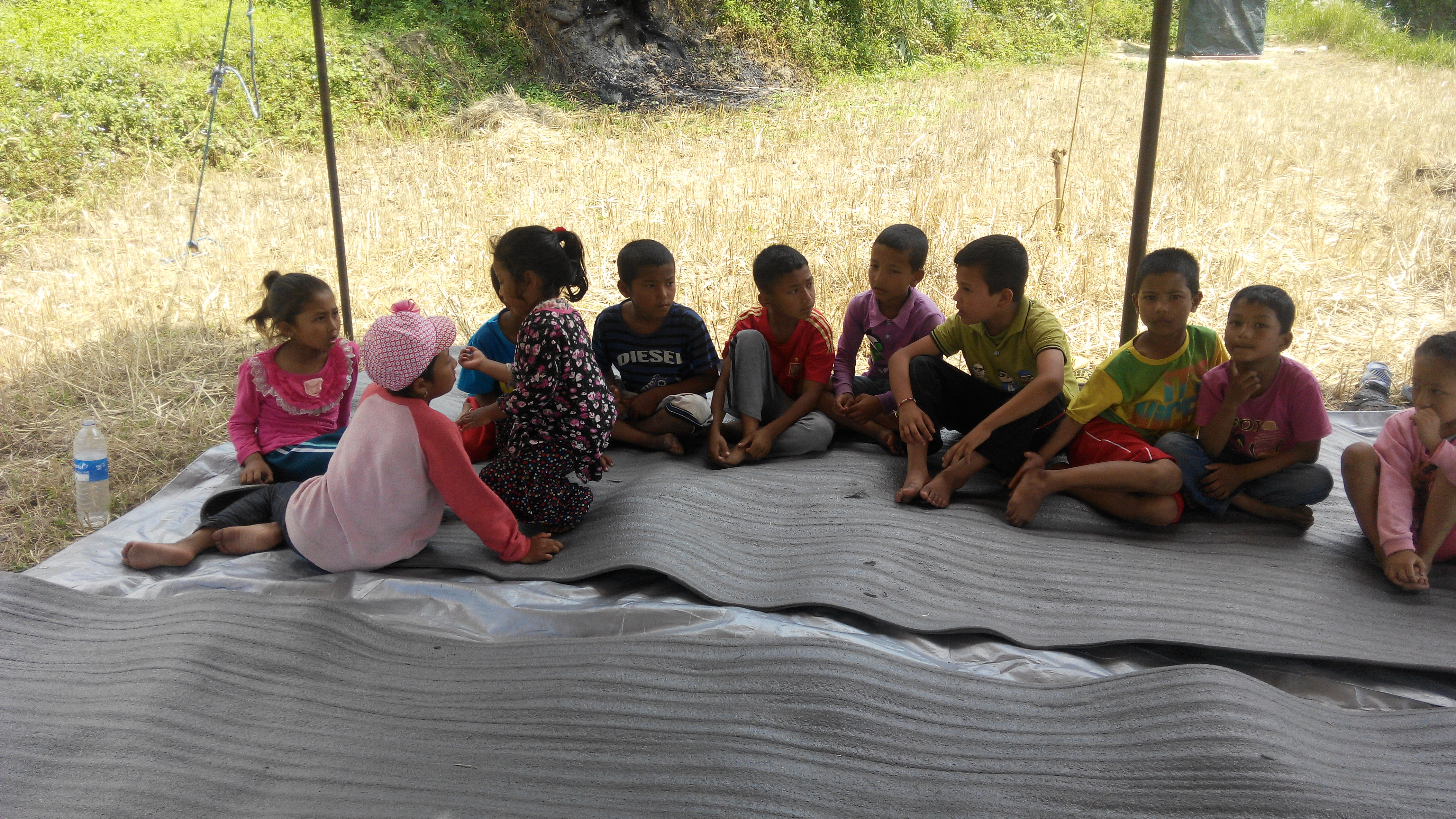 children waiting