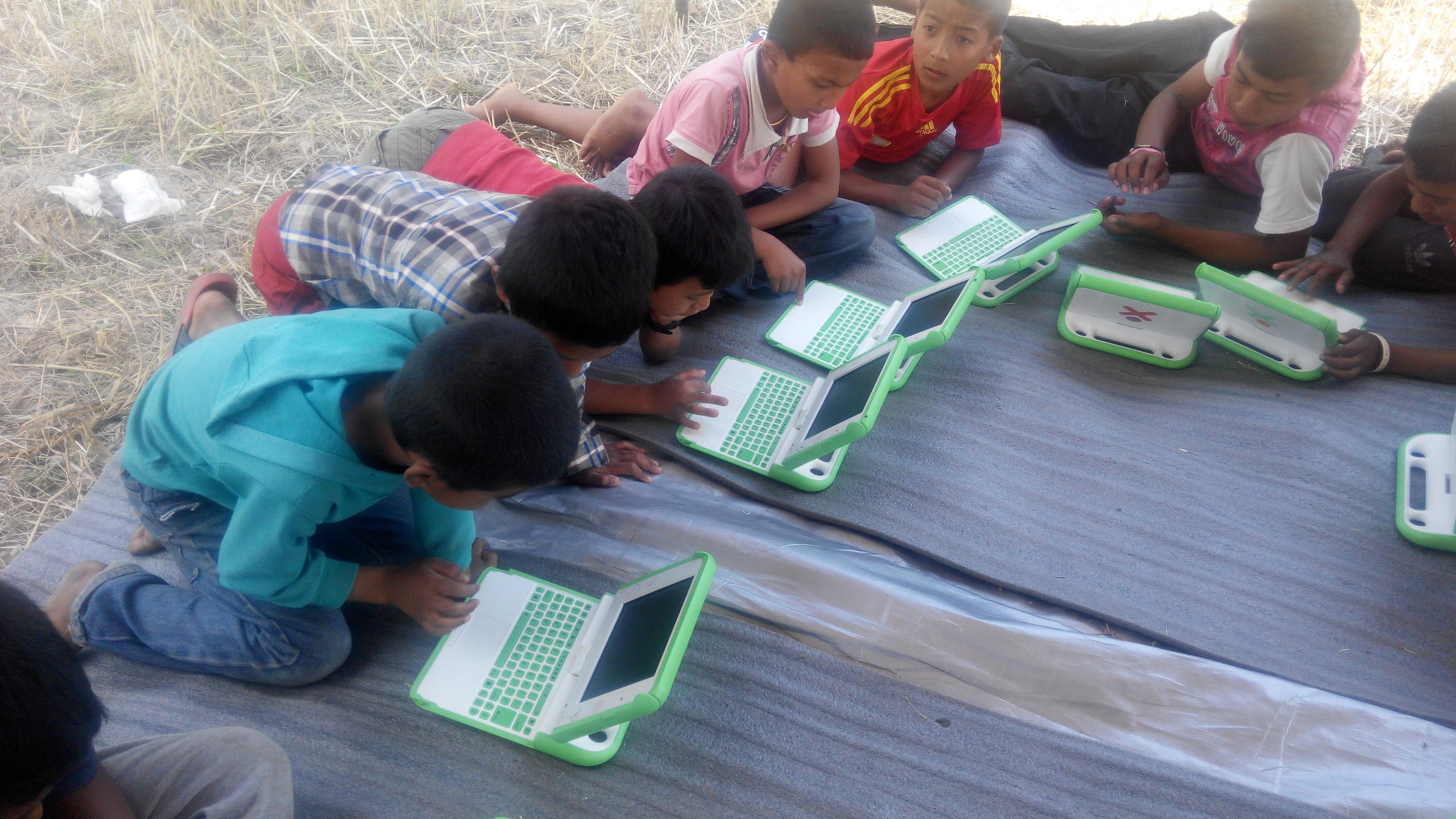 Children on XOs