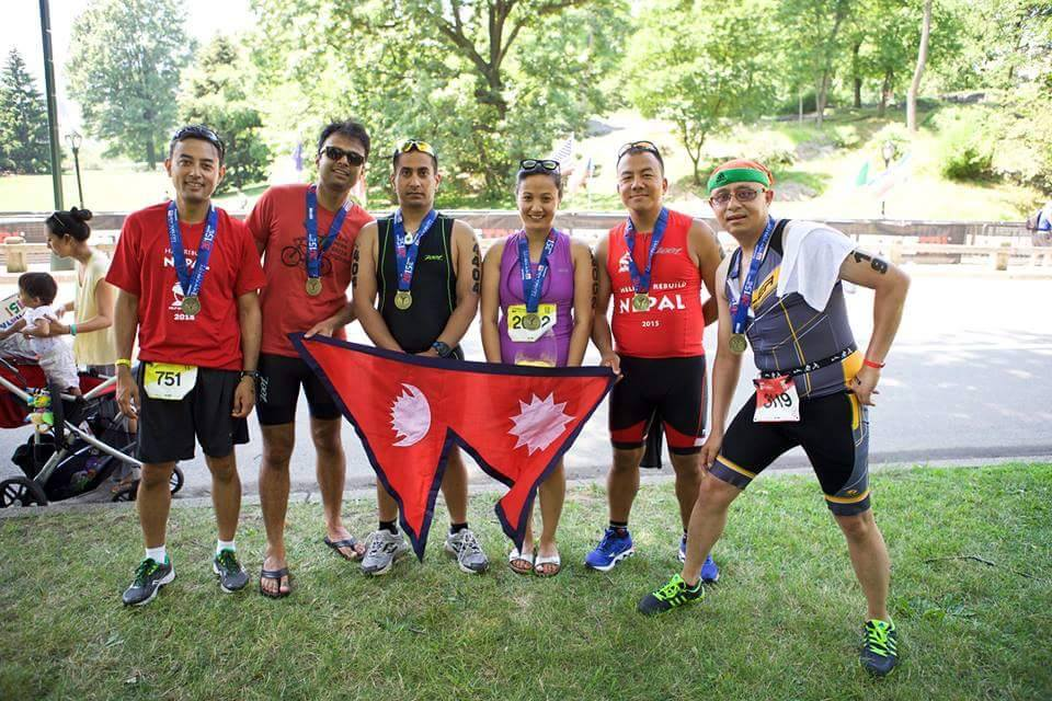with the medals