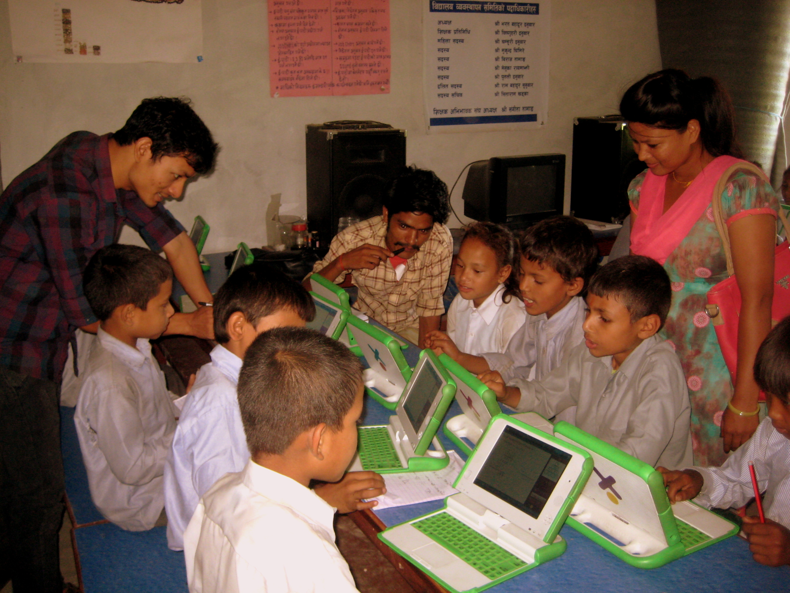 observing laptop class