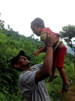 srikaran with kids
